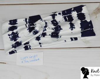 Ready to Ship Navy Tie Dye on White