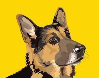 The German Shepherd, Canvas Art Print