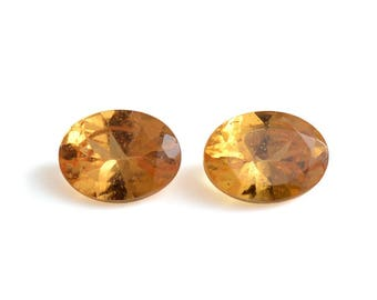 Spessartine Garnet Oval Cut Loose Gemstones Set of 2 1A Quality 4x3mm TGW 0.35 cts.
