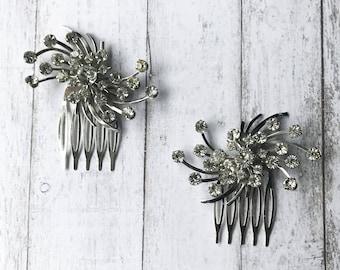 Vintage Hair Comb/ Rhinestone Hair Comb/ Diamond Hair Comb/ Art Deco Hair Comb/ Silver Hair Comb/ Wedding Hair Comb/ Bridal Hair Comb