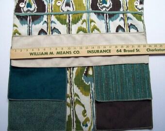 coordinating fabrics sample blue green brown