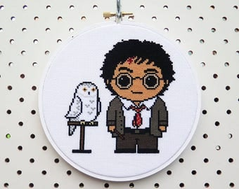 Harry Potter and Hedwig Cross Stitch