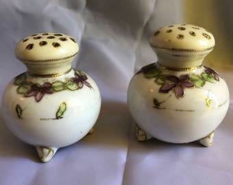 1950's Purple Flower Salt and Pepper Shakers