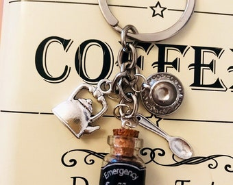 Coffee lovers keyring Emergency Coffee!