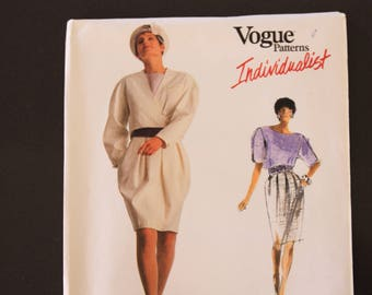 Vintage Vogue Individualist Sewing Pattern 2013, Ardi design, Misses' jacket, skirt and blouse, size 12-14-16, Uncut, Factory folded