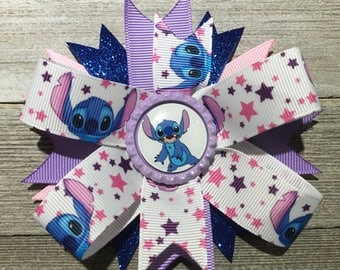 Lilo and Stitch Hair Bow, Stitch Hair Bow