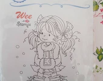 Heidi mounted rubber stamp