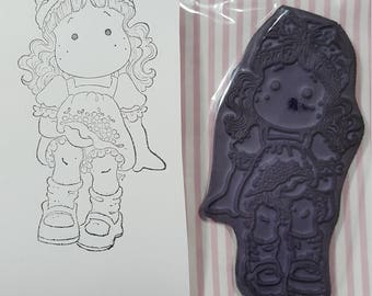 Tilda Magnolia mounted rubber stamp Cherry Tilda