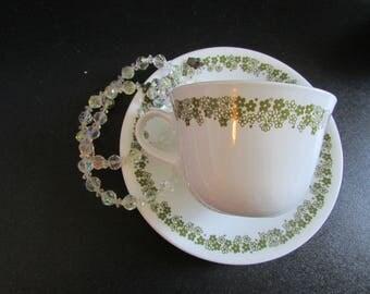 Crazy Daisy Spring Blossom Corelle Corning Livingware Tea/Coffee Set X 4