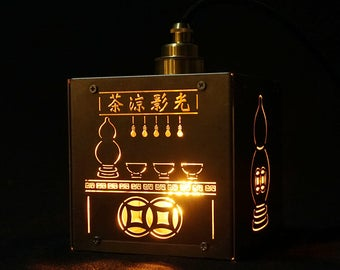 Herbal Tea Store Brass Lamp
