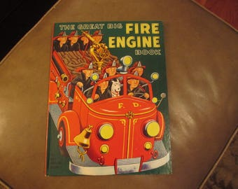 1972 The Great Big Fire Engine Book Illustrated by Tibor Gergely, A Big Golden Book