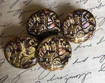 Vintage Victorian Picture Buttons - Lot #2