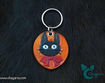 Jiji inspired leather keychain