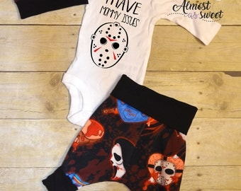 Horror Take Home Baby Outfit Jason Freddy Chucky Jigsaw Scream Hannibal Leatherface