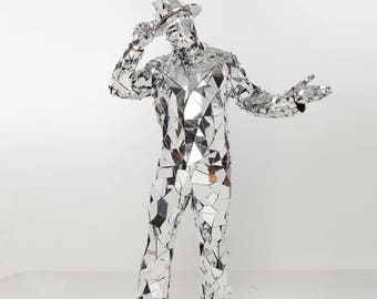 Mirror man glass man performance costume suit -  Broken glass Style - from ETERESHOP