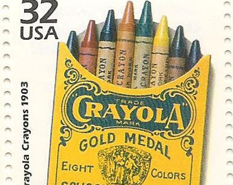 10 Unused 1998 - Crayola Crayons - Postage Stamps Number 3182d