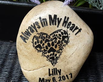 Pet Memorial - Pet Loss - Loss of Pet Gift - Pet Grave Marker - Pet Memorial Stone - Cat -Dog - Pet Lovers - In Memory Of A Pet - God Rocks