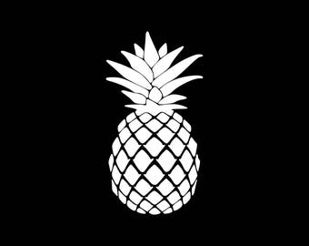 Pineapple Decal Vinyl Sticker Pineapple Car Decal Laptop Phone Bumper Window Wall etc...