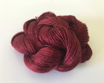 Burgundy Silk Lace Yarn (Cone or Hank)