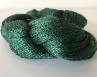 Green Silk Lace Yarn (Cone or Hank)
