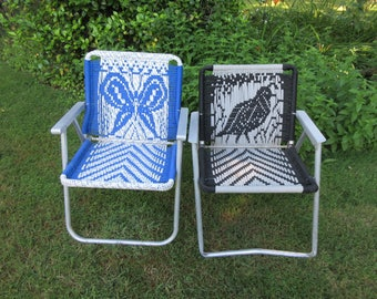 Macrame Lawn Chair Etsy
