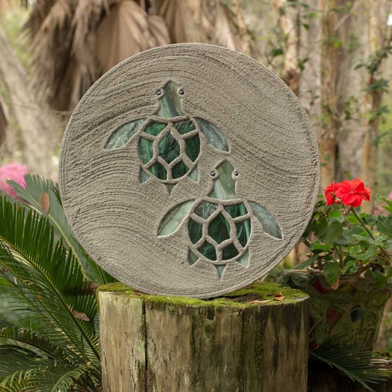 Baby Sea Turtle Hatchlings Stained Glass Stepping Stone #812