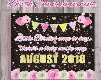 Birth Announcement Digital Delivery