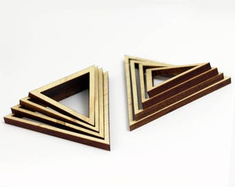 8 Concentric Equilateral Triangle Wood Beads : Maple Plywood