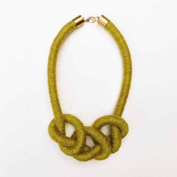 Triple Simple Thick Knot Necklace