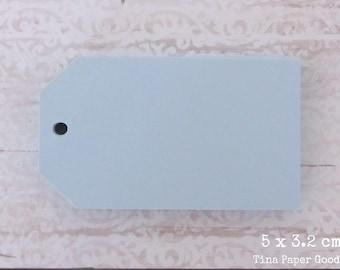 25 LIGHT BLUE Tags 5x3.2 cm