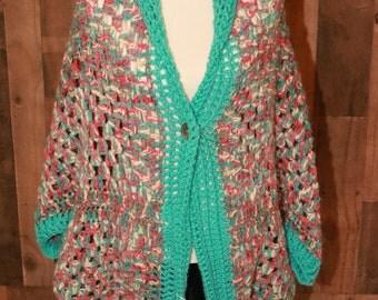 Large Crochet Shrug