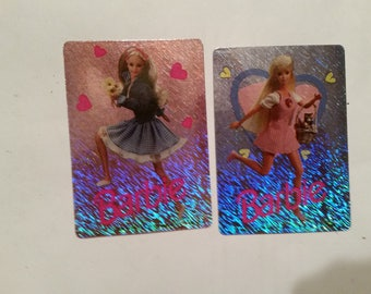 2-Barbie Prismatic Vending Machine Stickers