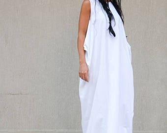 SALE 25% OFF White loose dress, Oversize  dress, White dress, Maxi dress, Summer dress by Kotyto