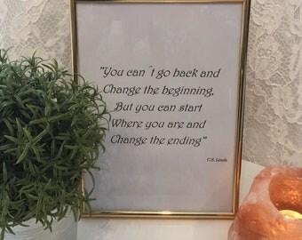 Inspirational quote, wisdom quote, printable, pdf file, C.S. Lewis