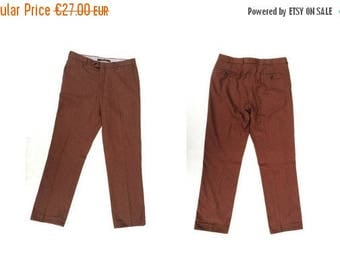 SALE Vintage mens pants / Mens cotton pants / Mens HARRY & SONS  straight leg slim fit  pants