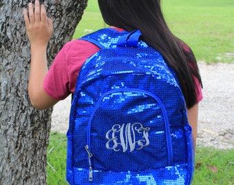 SALE! Monogrammed Sequin Backpack, Sequin Book bag, School Bag, Diva, Girl Bag