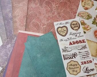 Creative Memories Additions Kit 12x12 Reminisce Valentine
