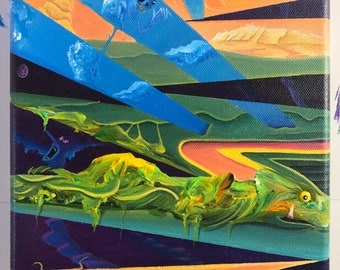 Original acrylic painting on canvas, visionary art for art collectors, free shipping in the US