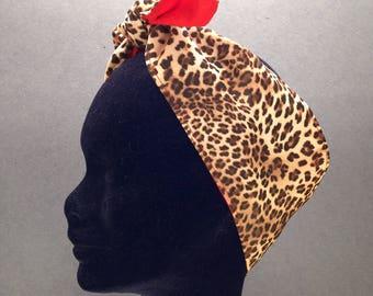 Leopard Print Rockabilly Headband