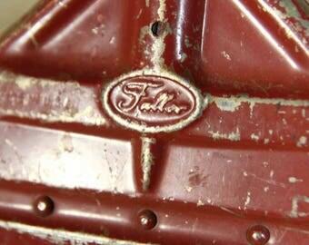 Fuller Brush Company 1920s Red Metal Whisk Broom