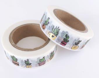 Washi tape, cactus