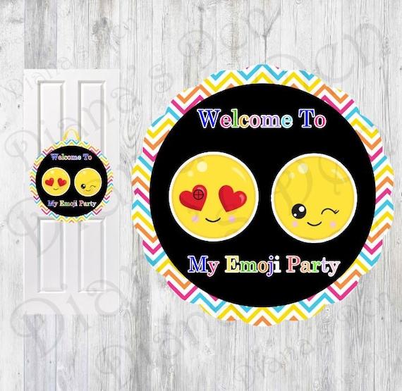 Il_570xn  sc 1 st  Catch My Party & Emoji Door Sign/Emoji Birtrhday/Emoji Party/Emoji Banner/Custom Door ...