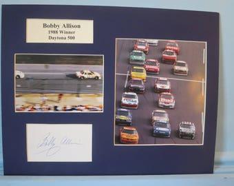 NASCAR Great Bobby Allison wins the 1988 Daytona 500 Winner & his autograph