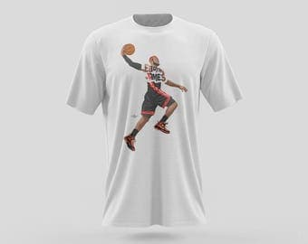 "Lebron James T-Shirt Design King James t-shirts are Ethically sourced 100% Cotton. Design of Lebron with the words ""Lebron James."""