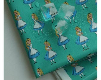 Laminated Disney Alice in Wonderland Digital Printing Cotton Fabric by Yard