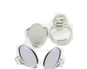 For creating 18x25mm cabochon Adjustable ring
