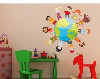 20% OFF Summer Sale Kids Globe childred wall decal sticker, deco, mural, vinyl wall art