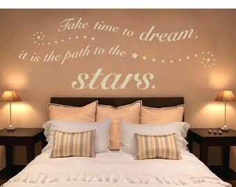 20% OFF Summer Sale Time to Dream wall decal, sticker, mural, vinyl wall art