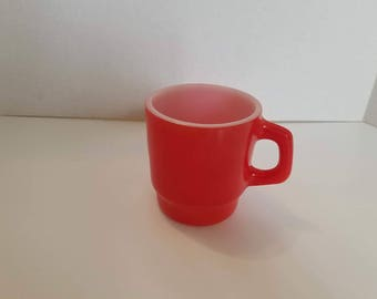 Vintage Anchor Hocking Red Cup
