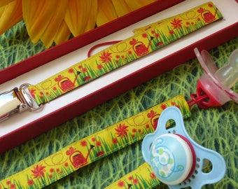 Garden Gift clip pacifier origin this woven Ribbon